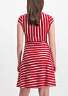 logo stripe dress, date stripe, Dresses, Red