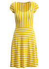 logo stripe dress, morning stripe, Kleider, Gelb