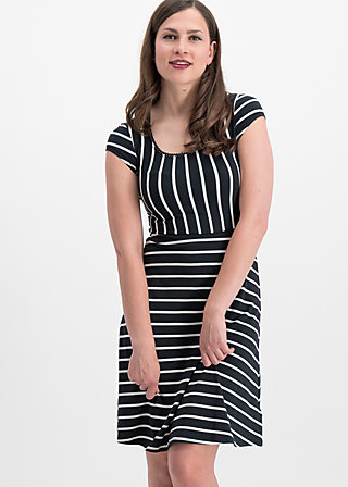 logo stripe dress, club stripe, Dresses, Black