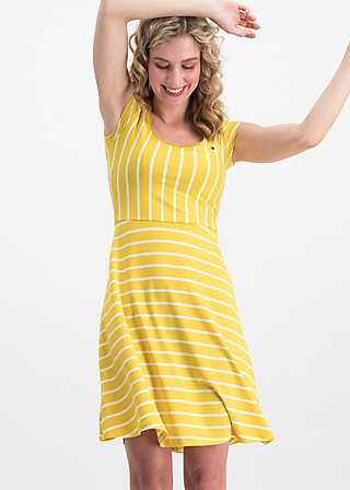 logo stripe dress, morning stripe, Dresses, Yellow