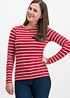 logo stripe longsleeve, date stripe, Shirts, Red
