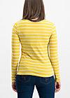 logo stripe longsleeve, morning stripe, Shirts, Gelb