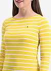 logo stripe longsleeve, morning stripe, Shirts, Yellow