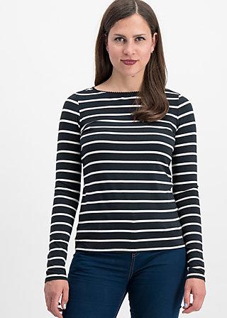 logo stripe longsleeve, club stripe, Shirts, Schwarz