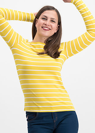 logo stripe longsleeve, morning stripe, Shirts, Gelb