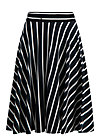 logo stripe skirt, club stripe, Skirts, Black