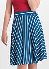 logo stripe skirt, free stripe, Röcke, Blau