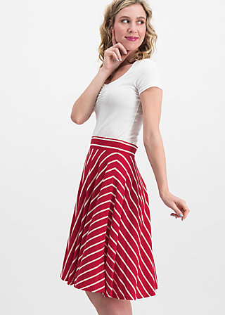 logo stripe skirt, date stripe, Skirts, Red