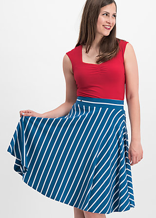 logo stripe skirt, free stripe, Skirts, Blue