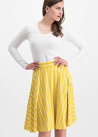 logo stripe skirt, morning stripe, Röcke, Gelb