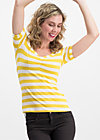 logo stripe t-shirt, kiez stripe, Shirts, Yellow