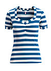 logo stripe t-shirt, wander stripe, Shirts, Blue