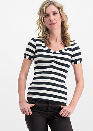 logo stripe t-shirt, block stripe, Shirts, Schwarz