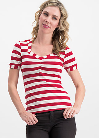 logo stripe t-shirt, toothpaste stripe, Shirts, Rot