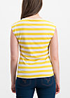 logo stripe top, kiez stripe, Shirts, Gelb