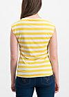 logo stripe top, kiez stripe, Shirts, Yellow
