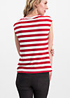 logo stripe top, toothpaste stripe, Shirts, Rot