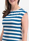 logo stripe top, wander stripe, Shirts, Blue