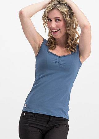 logo top romance uni, blue skyline, Shirts, Blau