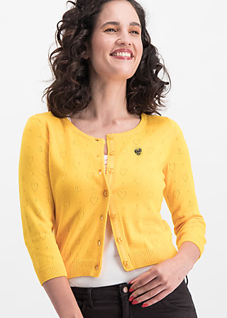 Cardigan logo wonderwaist cardy, yellow hope heart, Cardigans & leichte Jacken, Gelb