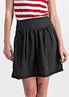 logo woven skirt, midnight black , Skirts, Black