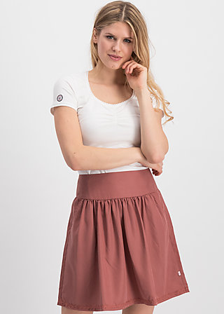 logo woven skirt, rosewood brown , Skirts, Braun