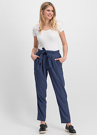 logo woven trousers, morning blue , Trousers, Blue