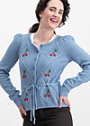 lucky cherry cardigan, blue cherry, Pullover & leichte Jacken, Blau