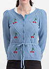 lucky cherry cardigan, blue cherry, Jumpers & lightweight Jackets, Blue