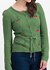 lucky cherry cardigan, folk cherry, Cardigans, Grün