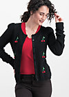 lucky cherry cardigan, night cherry, Pullover & leichte Jacken, Schwarz