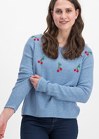 ma cherie pullover, blue cherry, Jumpers, Blau