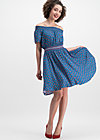 metropolitan magic dress, city roses, Webkleider, Blau