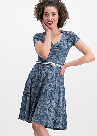 mze kze dress, fluffy feather, Dresses, Blue