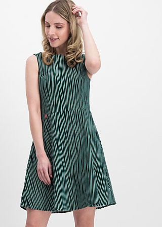 petite and oho dress, punk the stripe, Kleider, Grün