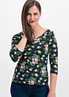 so long betty shirt, vagabund flowers, Langarm, Schwarz