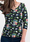 so long betty shirt, vagabund flowers, Shirts, Schwarz