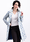 spy of love trenchcoat, delft porcelain, Jackets & Coats, Blue