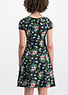 swing along dress, vagabund flowers, Jersey Dresses, Schwarz