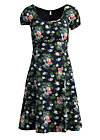 swing along dress, vagabund flowers, Jerseykleider, Schwarz