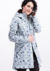 Soft Shell Parka wild weather long anorak, delft porcelain, Jackets & Coats, Blue