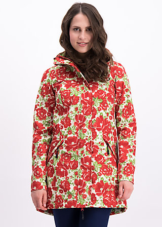 wild weather long anorak, poppy power, Jackets & Coats, Green