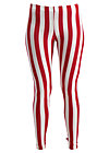 zahnpasta stripes longlegs, toothpaste stripe, Leggings, Red