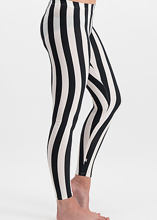 zahnpasta stripes longlegs, block stripe, Leggings, Schwarz