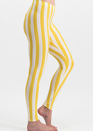 zahnpasta stripes longlegs, kiez stripe, Leggings, Yellow