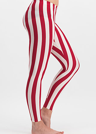 zahnpasta stripes longlegs, toothpaste stripe, Leggings, Rot