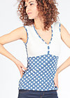 frontluke toplet, snowwhite dots, Shirts, Blau