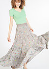 marys long picknick skirt, singing bird sing, Röcke, Braun