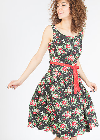 sommerliebe robe, sensommar blomsteräng, Woven Dresses, Schwarz