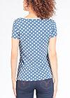 veranda feger shirt, snowwhite dots, Kurzarm, Blau